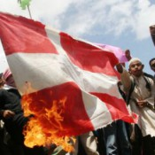 Burning the Danish Flag