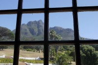 The view of Devil's Peak from Rhodes' bedroom