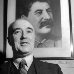 Pollitt with his Stalin portrait