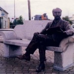 Bronze figure of Percy French in the main square of Ballyjamesduff.