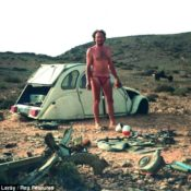 Leray and his improvised Citroën CV shelter