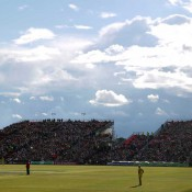 The view to the temporary stand