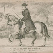 Martin Van Butchell riding his favourite pony in Hyde Park