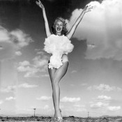 Lee A Merlin as Miss Atomic Bomb in 1957