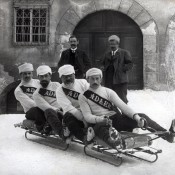 Swiss Bobsleigh Team in 1910