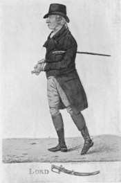 An 1808 engraving of George Hanger