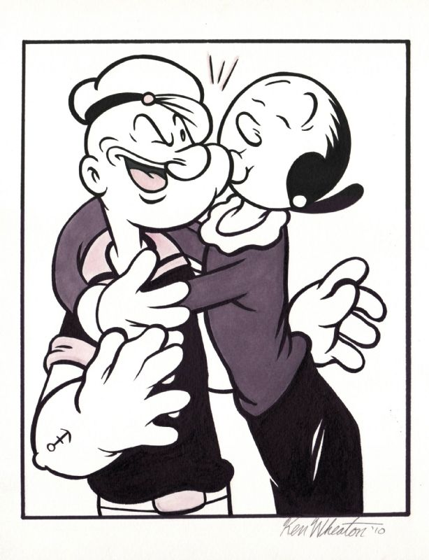 P is for Popeye Popeye The Sailor Man And His Wife
