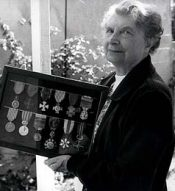 Travers and her medals