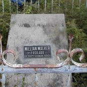 Walker's grave in the Old Trujillo Cemetery, Colón, Honduras