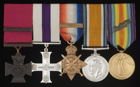 Chevasse's medals at the Imperial War Museum