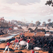Attack on Rangoon 1824