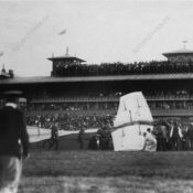 Crashed aircraft at Kolomyazhsky Racetrack
